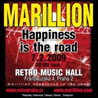 Plakát koncertu Marillion, 7. 2. 2009, Retro Music Hall