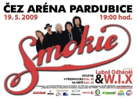 Smokie tour 2009 - plakát akce