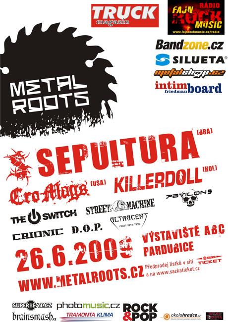 Metalroots plákat festivalu