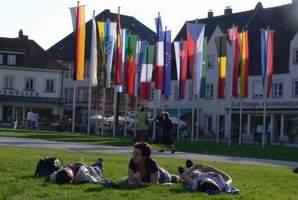 Vlajky ve městě Altotting