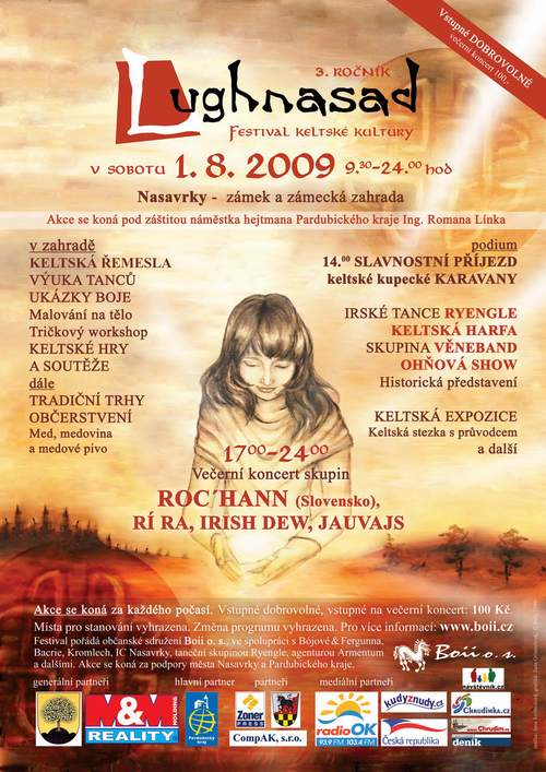 Plakát Lughnasad Nasavrky 2009