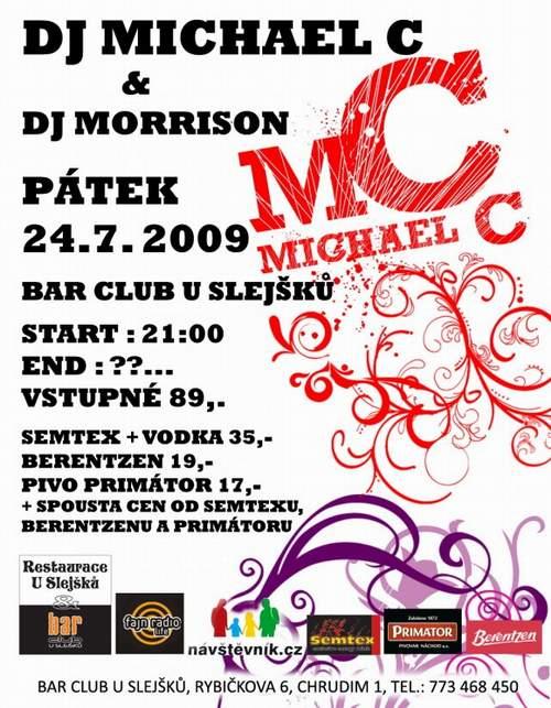 Plakát akce DJ Michael C & DJ Morrison