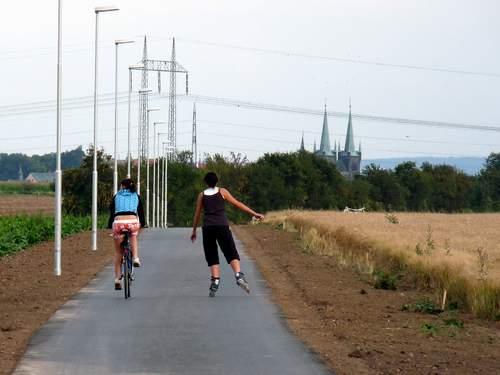 Cyklostezka před dokončením
