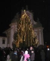 Rozsvícení vánočního stromu v Heřmanově Městci