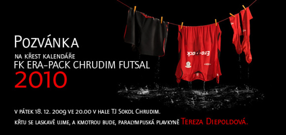 Křest futsalové kalendáře 2010 a zápas ERA-PACK Chrudim ver. Helas Brno