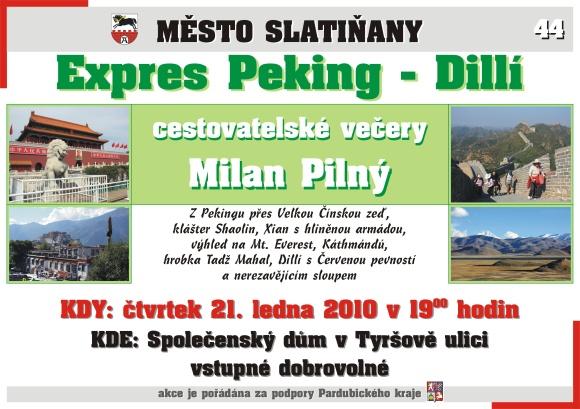Cestovatelský večer - Expres Peking - Dillí
