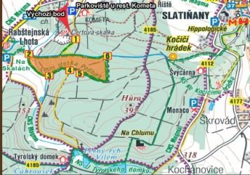 mapa CHKO Železné hory Podhůra