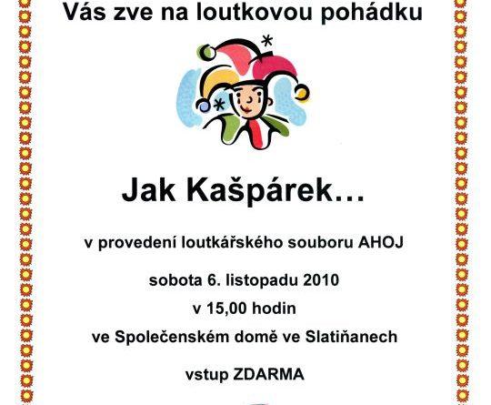 Loutkové představení ve Slatiňanech