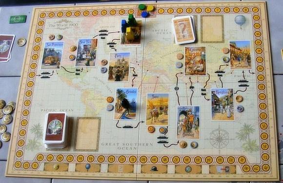 Desková hra - Cesta kolem světa za 80 dní