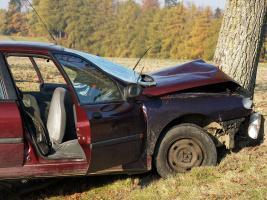 Nad Vápeným Podolem narazilo auto do stromu, řidič nepřežil