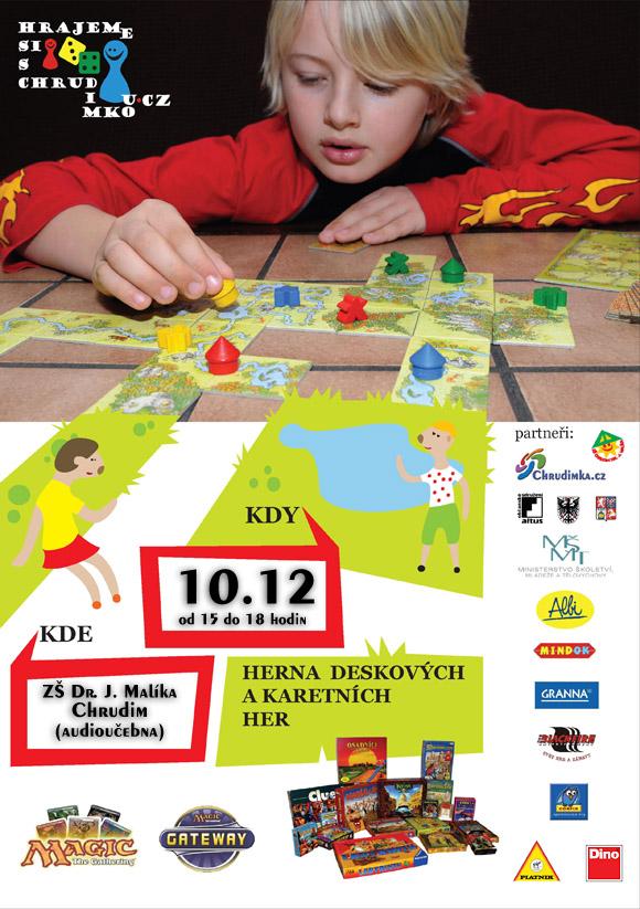 Plakát akce Hrajeme si s Chrudimkou