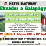 52. cestovatelský večer – Ekvádor a Galapágy