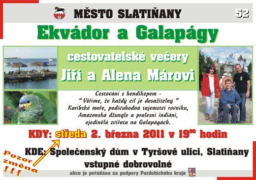 52. cestovatelský večer - Ekvádor a Galapágy