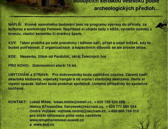 Jak se staví Keltská vesnice?