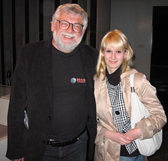 Josef Klíma s naší redaktorkou Dominikou Podvoleckou