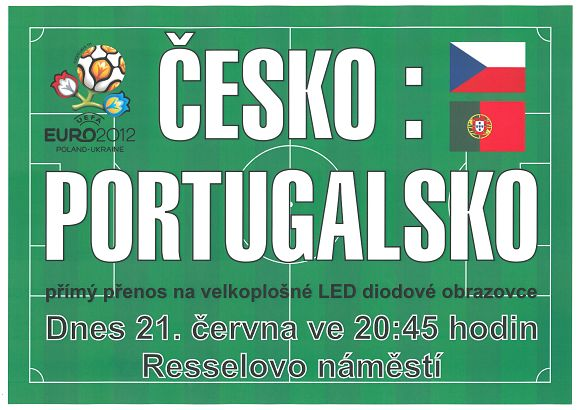 Česko - Portugalsko čtvrtfinálové utkání