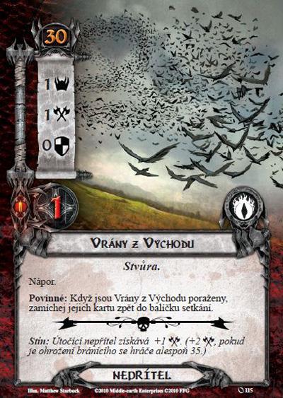 Nová karetní hra Pán prstenů