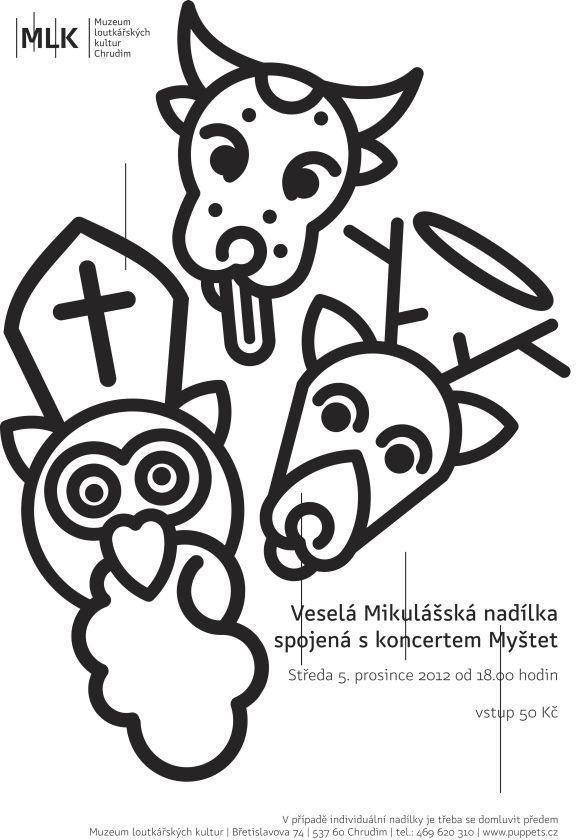 Plakát Mikulášský koncert Myštet