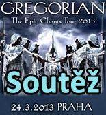 Soutěž o vstupenky na Gregorian v Praze
