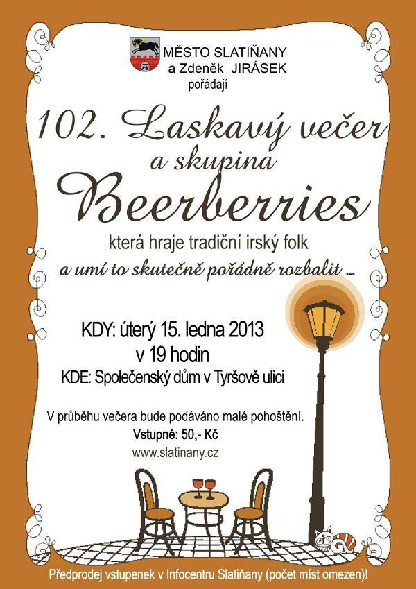 Beerberries zahrají ve Slatiňanech