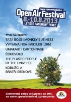 Open air festival oznamuje první interprety