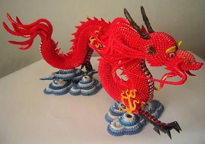 Překrásný papírový drak