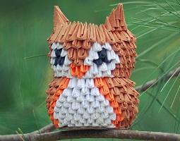 3D origami - sova