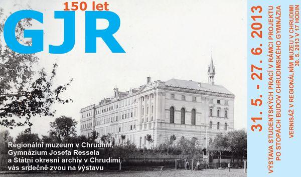 Výstava ke 150. výročí GJR Chrudim