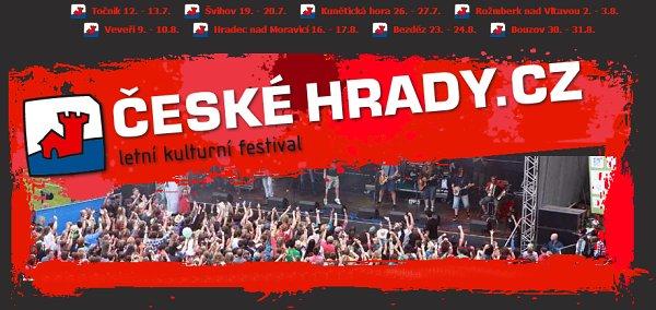 Soutěž o vstupenky na festival České hrady.cz na Kunětické hoře