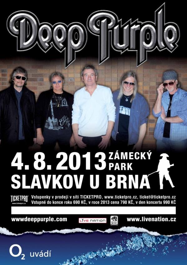 Deep Purple vystoupí v srpnu ve Slavkově u Brna