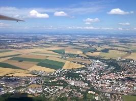 Pohled na Chrudim jinak, foto: archiv Aeroklubu Chrudim