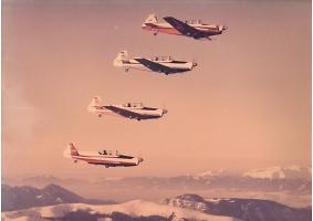 Chrudimská čtyřka v akci, foto poskytnuto Aeroklubem Chrudim