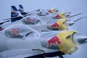 Chrudimská čtyřka - The Flying Bulls Aerobatis Team, foto poskytnuto Aeroklubem Chrudim