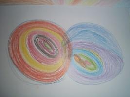Mužská a ženská stránka jako výsledek automatické kresby (foto: M. Fílová)