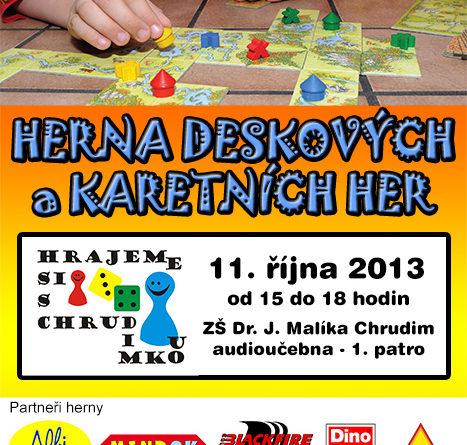 Herna deskových a karetních her - Hrajeme si s Chrudimkou