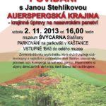 Auerspergská krajina – povídání s Janou Stehlíkovou