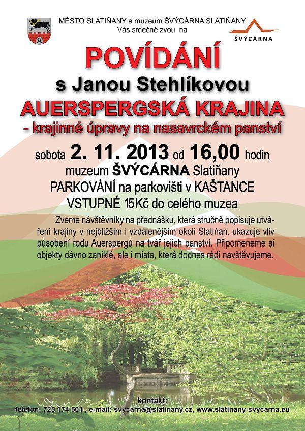 Auerspergská krajina - povídání s Janou Stehlíkovou