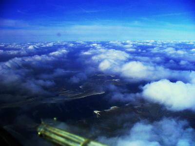 Uchvacující pohled skrz oblaka, foto: Aeroklub Chrudim