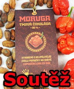 Soutěž o sakra pálivou čokoládu Moruga tmavá 80%
