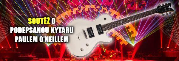 Vyhrajte podepsanou kytaru Paula O'Neilla na koncertě TSO