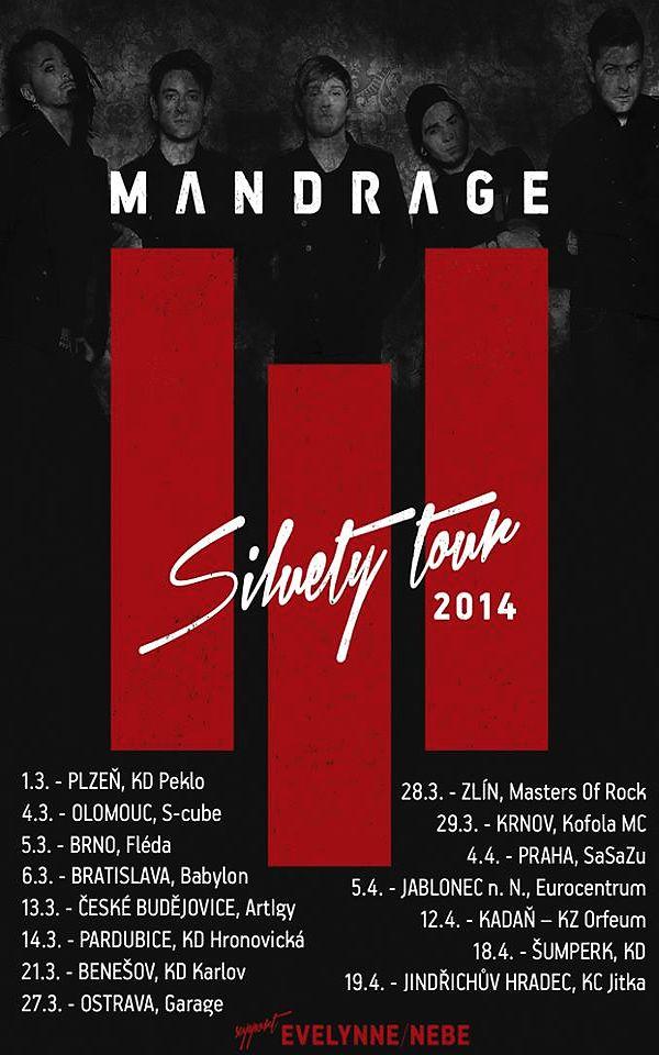 Mandrage vyrazí na turné k albu Siluety