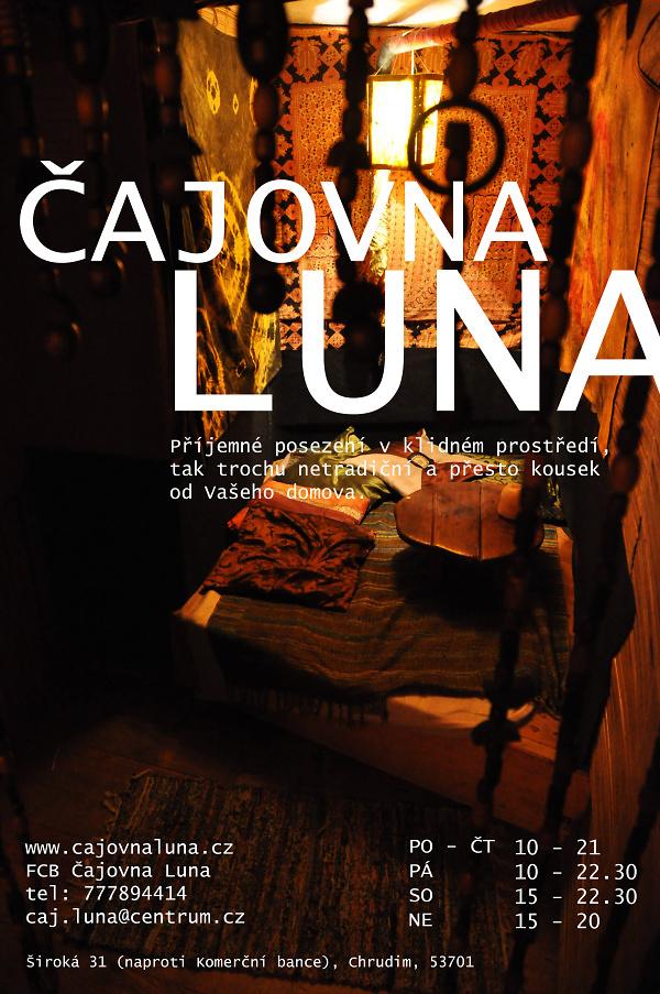 Aktuální čas, kdy můžete navštívit čajovnu Luna, foto: archiv čajovny Luna