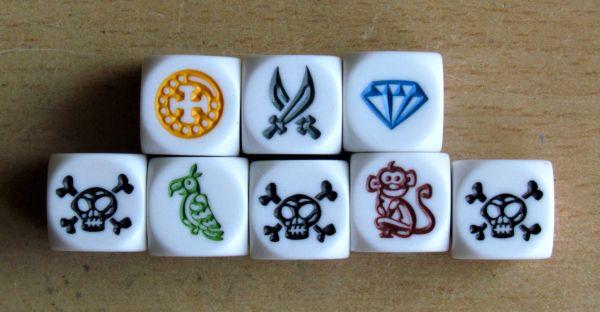 Pirátské kostky - opice, papoušci a diamanty