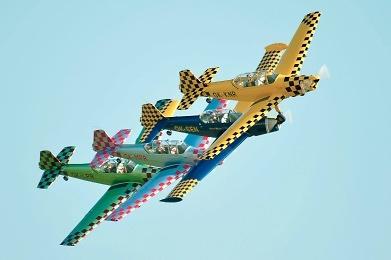 Chrudimská čtyřka, foto: archiv Aeroklubu Chrudim