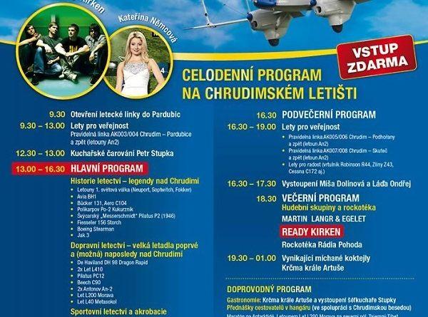 Plakát akce, foto poskytnuto Aeroklubem Chrudim
