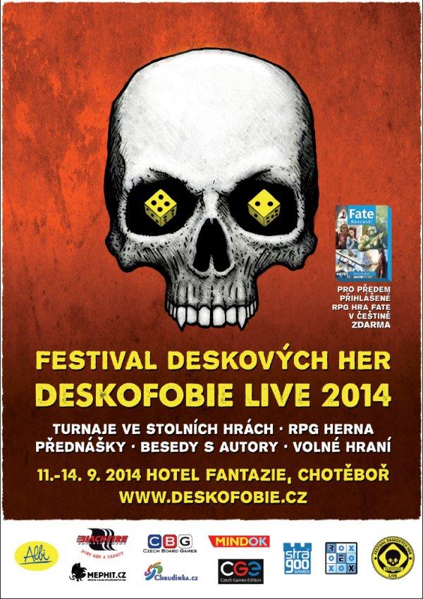 Soutěž o vstupenky na Festival deskových her Deskofobii LIVE 2014