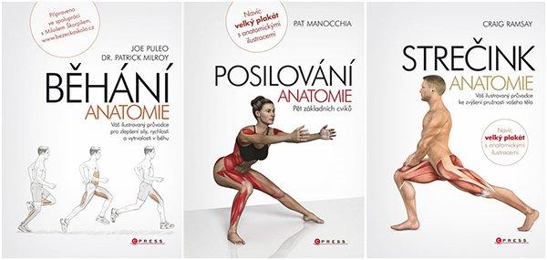 Soutěž o knihy z edice Anatomie - Běhání, Strečink a Posilování