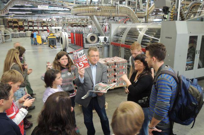 Návštěva tiskárny v Chemnitz