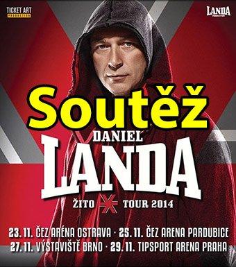 Soutěž o vstupenky na Daniela Landu - Žito Tour 2014 do Pardubic