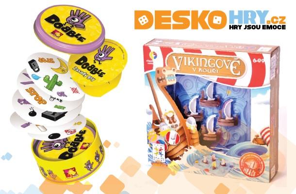 SOUTĚŽ o hry Vikingové v bouři a Dobble
